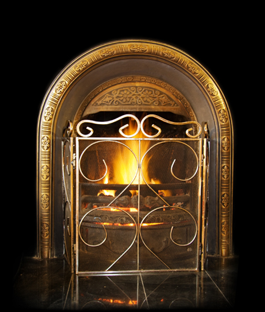 FirePlaceOnBlack